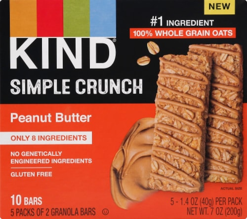 KIND Simple Crunch Peanut Butter Granola Bars Perspective: front