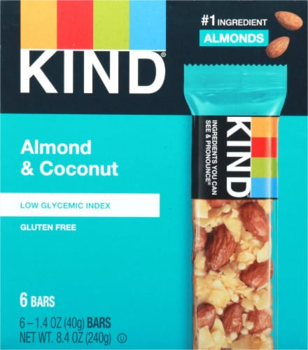 KIND Almond & Coconut Bars Perspective: front