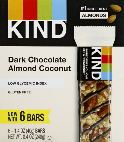 KIND Dark Chocolate Almond Coconut Bars Perspective: front
