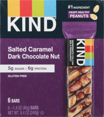 KIND Salted Caramel & Dark Chocolate Nut Bars Perspective: front