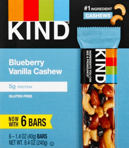 KIND Blueberry Vanilla & Cashew Bars Perspective: front