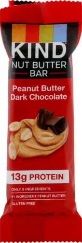 KIND Peanut Butter Dark Chocolate Nut Butter Bar Perspective: front