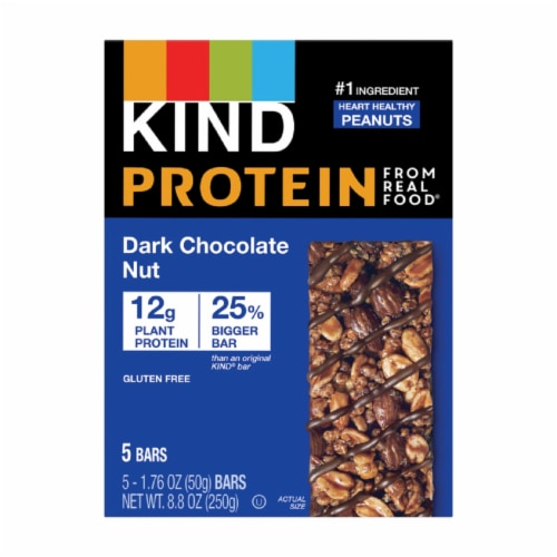 KIND Protein Dark Chocolate Nut Bars 5 Count Perspective: front