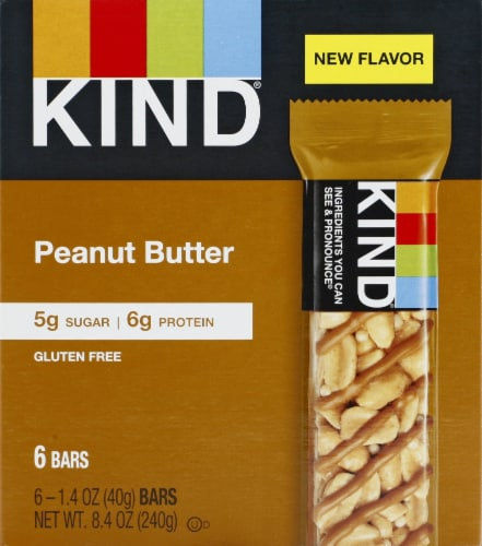 KIND Gluten Free Peanut Butter Bars Perspective: front