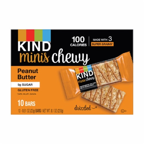 KIND Minis Chewy Peanut Butter Gluten Free Bars Perspective: front