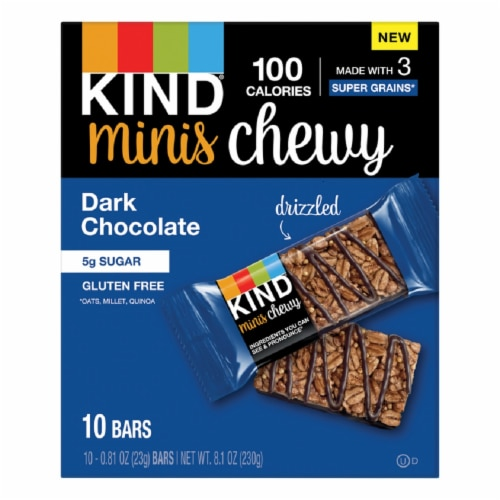 KIND Mini Chewy Dark Chocolate Granola Bars Perspective: front
