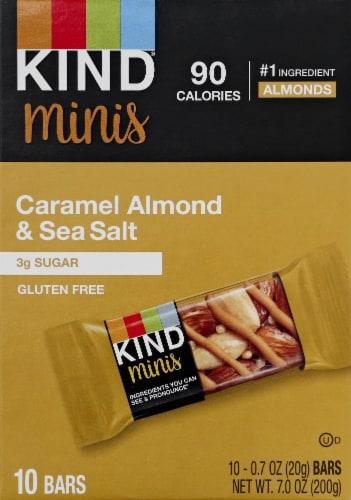 KIND Minis Caramel Almond & Sea Salt Bars Perspective: front