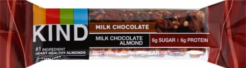 KIND Milk Chocolate Almond Bar Perspective: front
