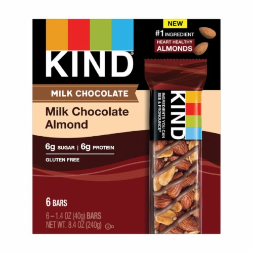 KIND Milk Chocolate Almond Bars Perspective: front