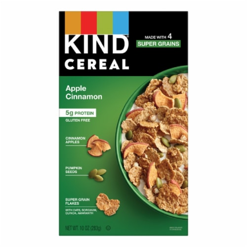 KIND Cereal Apple Cinnamon Super Grain Flakes Perspective: front
