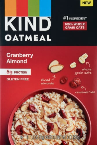 KIND Oatmeal Cranberry Almond Cereal Perspective: front