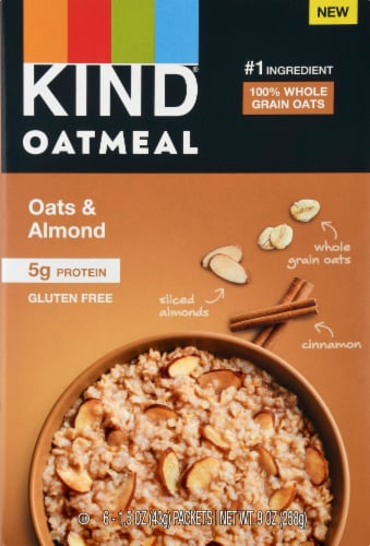 KIND Oatmeal Oats & Almond Perspective: front