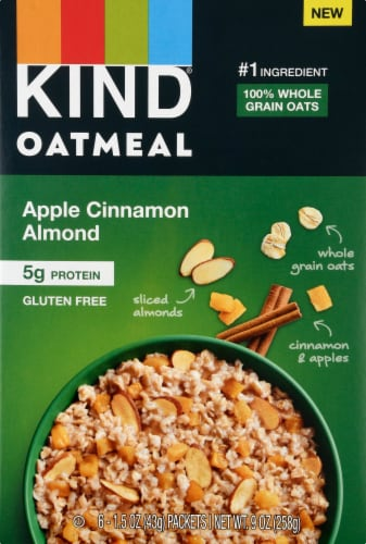 KIND Oatmeal Apple Cinnamon Almond Perspective: front