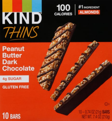 KIND Thins Peanut Butter Dark Chocolate Bars Perspective: front