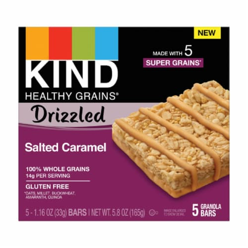 KIND Salted Caramel Granola Bars Perspective: front