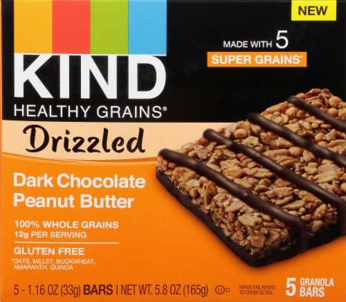 KIND Dark Chocolate Peanut Butter Granola Bars Perspective: front