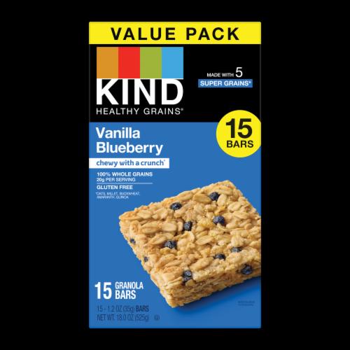 KIND Vanilla Blueberry Granola Bars Perspective: front