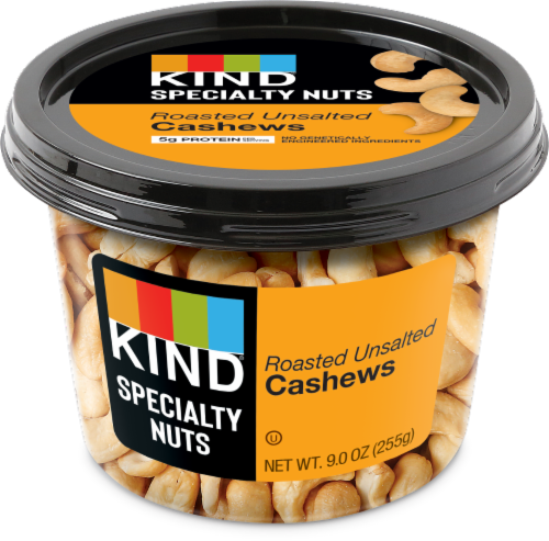 KIND® Roasted Unsalted Cashews Perspective: front