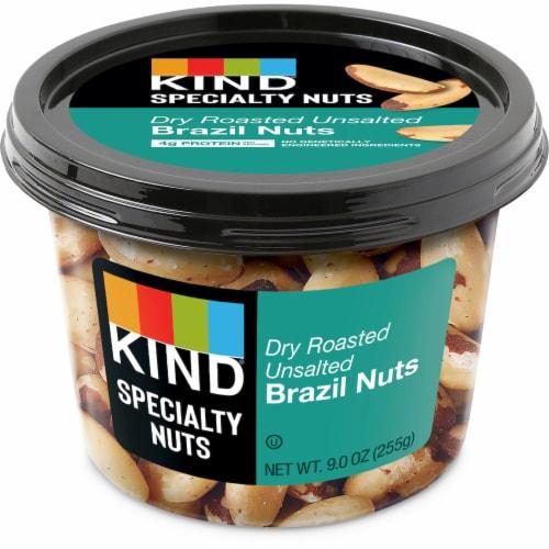 KIND Dry Roast No Salt Brazil Nuts Perspective: front