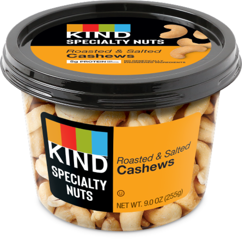 KIND Roasted Salted Cashews Perspective: front