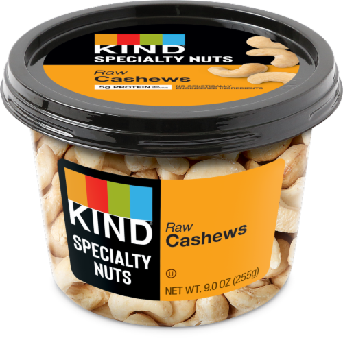 KIND Raw Cashews Perspective: front