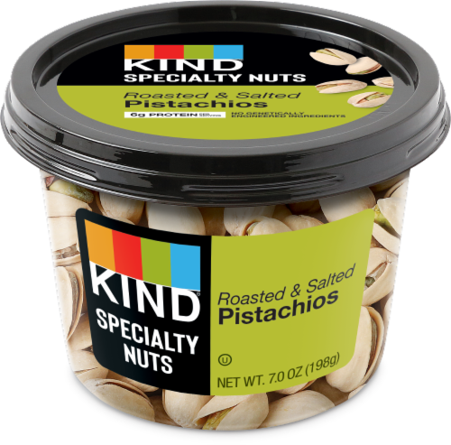 KIND Roasted Salted In-Shell Pistachios Perspective: front