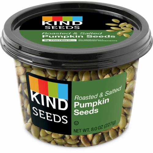 KIND Roasted Salted Pumpkin Seeds Perspective: front