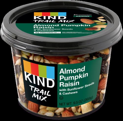 KIND Almond Pumpkin Raisin Trail Mix Perspective: front