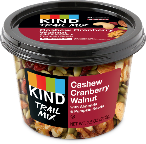KIND Cashew Cranberry Walnut Trail Mix Perspective: front