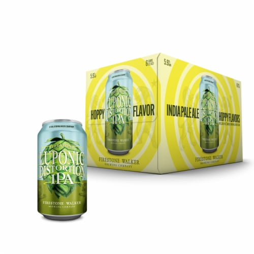 Firestone Walker Luponic Distortion IPA Beer Perspective: front