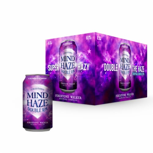 Firestone Walker Mind Haze Double IPA Beer Perspective: front