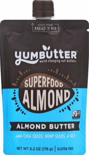 Yumbutter Superfood Almond Butter Perspective: front