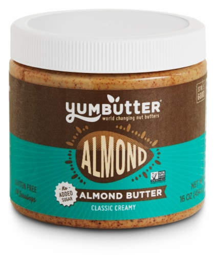Yumbutter Almond classic Creamy Almond Butter Perspective: front