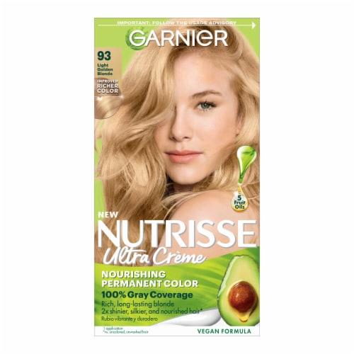 Garnier Nutrisse 93 Light Golden Blonde Nourishing Color Creme Hair Color Perspective: front