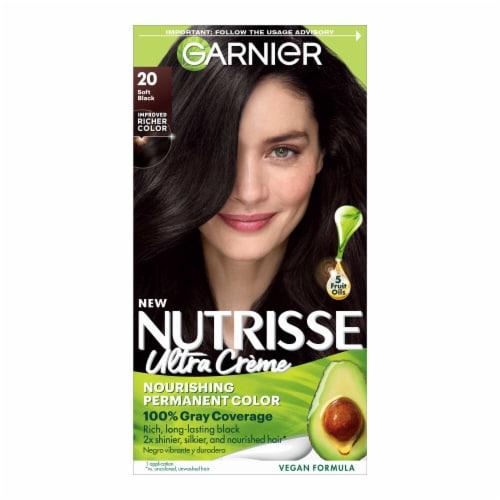 Garnier Nutrisse 20 Soft Black Nourishing Color Creme Hair Color Perspective: front
