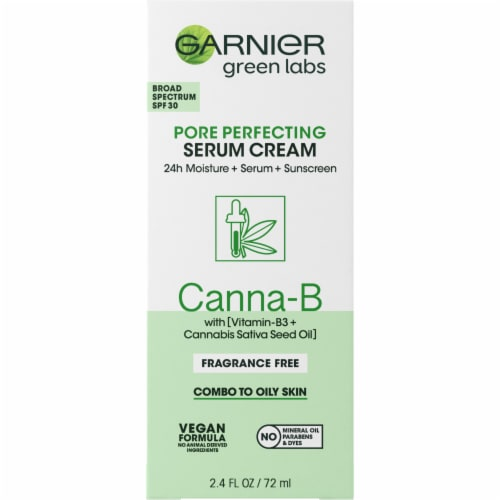 Garnier Green Labs Canna-B Fragrance Free Pore Perfecting Serum Cream Perspective: front