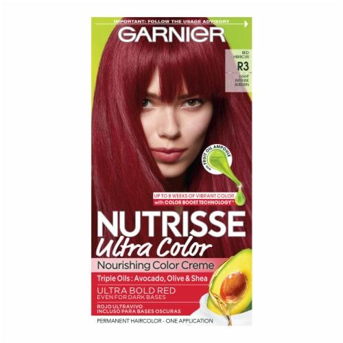 Garnier® Nutrisse Ultra Color Light Intense Auburn R3 Nourishing Color Creme Perspective: front