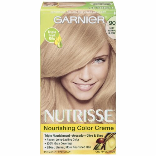Garnier Nutrisse 90 Light Natural Blonde Hair Color Perspective: front