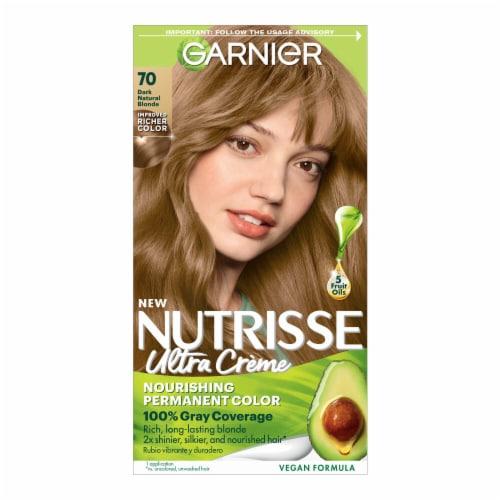 Garnier Nutrisse 70 Dark Natural Blonde Hair Color Perspective: front