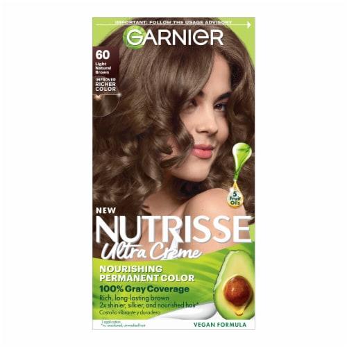 Garnier Nutrisse 60 Light Natural Brown Nourishing Color Creme Hair Color Perspective: front