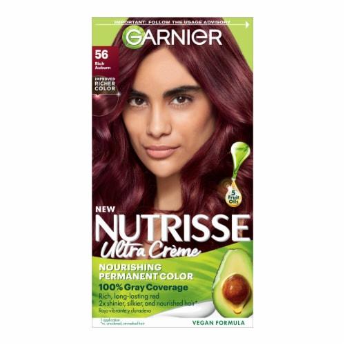 Garnier Nutrisse 56 Medium Reddish Brown Nourishing Color Creme Perspective: front