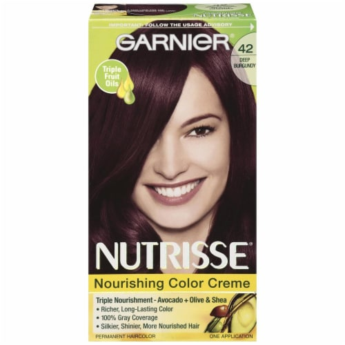 Garnier Nutrisse 42 Deep Burgundy Nourishing Color Creme Perspective: front