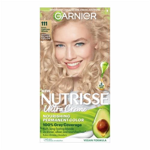 Garnier Nutrisse 111 Extra-Light Ash Blonde Hair Color Kit Perspective: front
