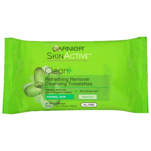 Garnier Refreshing Makeup Remover Cleansing Towelettes Perspective: front