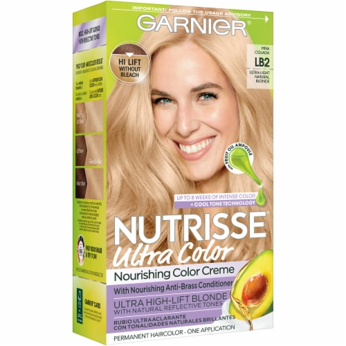 Garnier Nutrisse Ultra Color LB2 Ultra Light Natural Blonde Hair Color Perspective: front
