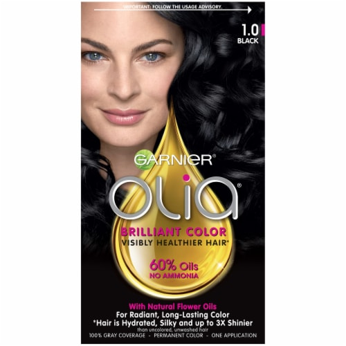 Garnier Olia 1.0 Black Permanent Hair Color Perspective: front