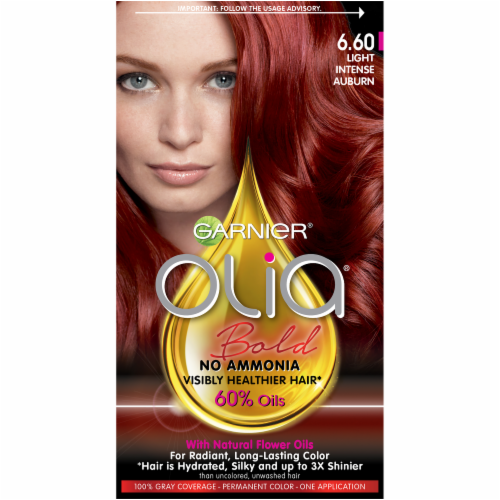 Garnier Olia 6.60 Light Intense Auburn Oil Powered Hair Color Perspective: front