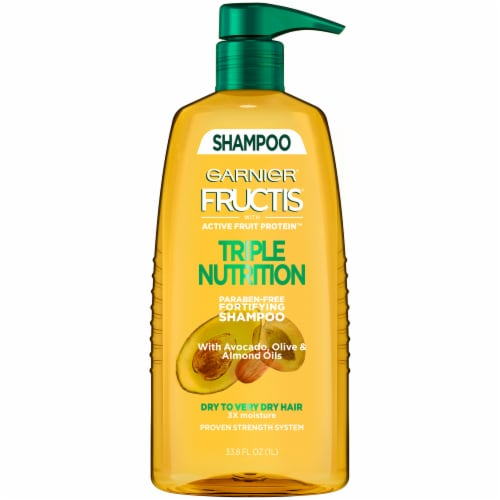 Garnier Fructis Triple Nutrition Paraben Free Fortifying Shampoo Perspective: front