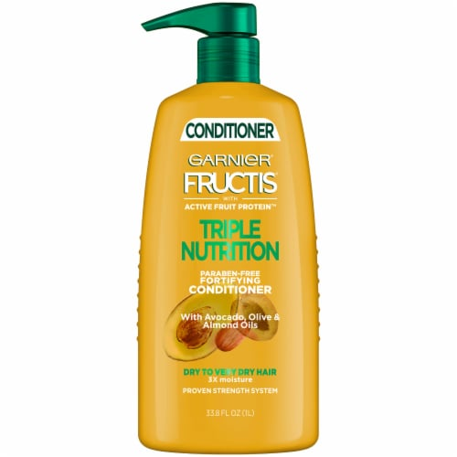 Garnier Fructis Triple Nutrition Conditioner with Avocado Olive & Almond Oils Perspective: front
