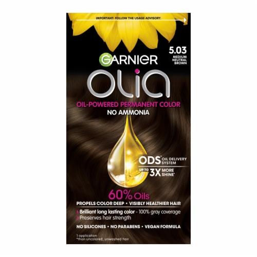Garnier Olia 5.03 Medium Neutral Brown Hair Color Perspective: front